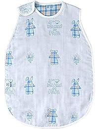 SOULEIADO Mon bebe cheri 6层纱布睡袋 [対象] 24ヶ月 ~ 84ヶ月 浅蓝色 キッズサイズ
