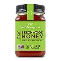 Wedderspoon Raw Beechwood Honey, 17.6 Ounce