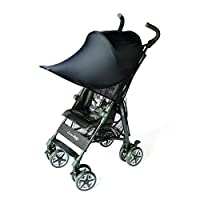 Smart Start 婴儿车大型防晒遮阳篷 黑 99%UV CUT
