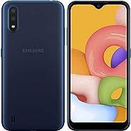 Samsung 三星 Galaxy A01 (16GB,2GB RAM) 5.7 Infinity-V 显示屏,双后置摄像头,Snapdragon 439,美国&全球 4G LTE GSM 解锁A015M/DS