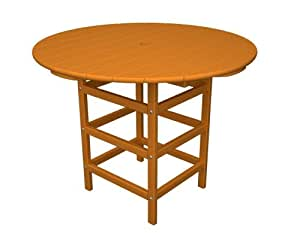 "POLYWOOD Traditional Round Bar-Height Outdoor Table 柑橘色 36"" Round"