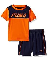 PUMA 彪马 男童 T 恤和短裤 2 件套