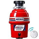 贝克巴斯(BECBAS) 厨余垃圾处理器ELEMENT60(E60)无线开关免打孔,650W功率 0.88P马力强劲动力【免费安装 咨询电话:400-023-2227 or 微信公众号:becbas】