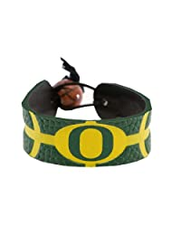 NCAA Oregon Ducks Team Color Gamewear Leather Basketball Bracelet