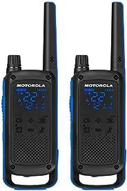 Motorola Talkabout T800双向收音机,2个装,黑色/蓝色