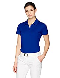adidas 高尔夫球女式性能短裤袖 POLO 衫