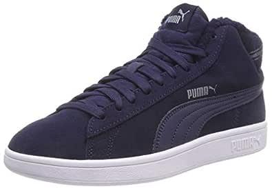 Puma 彪马 中性 成人Smash V2 Mid WTR 运动鞋 Blau (Peacoat-peacoat 02) 37.5 EU