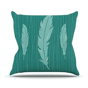 Kess InHouse Jaidyn Erickson Feathers 户外抱枕,16 x 16 英寸