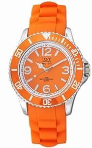 Tom watch 女式模拟石英手表橡胶表带 WA000004