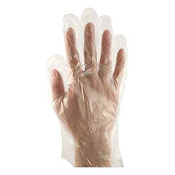 Ansell Healthcare 925326 FoodMates 一次性聚乙烯手套,1 密耳,9 英寸长,小号,透明(2000 个装)