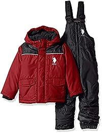 U.S. Polo Assn. 男孩幼童 2 件套防雪服和滑雪围兜裤套装