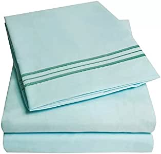 ELEGANTE 系列豪华床单套装 浅蓝色 全部