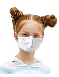 Angel Luna 口罩 5片装 可清洗 儿童款 泳衣材质 al490065-5 白色 约28厘米×8厘米(均码)
