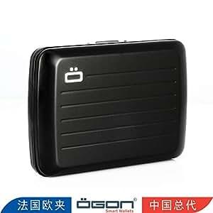 【官方直营】OGON 法国防水卡盒~@纯爷们(原创设计 原装进口 时创意礼物) (黑色)
