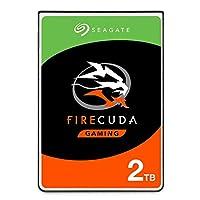 Seagate 2 TB FireCuda 游戏 SSHD 2.5 英寸内置固态混合驱动器,适用于 PC 和 PS4(型号:ST2000LXZ01/LX001)