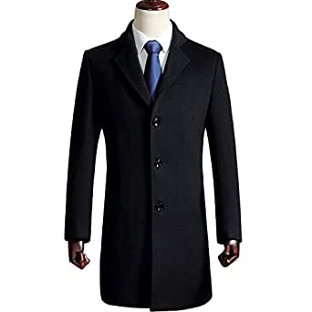 Glestore 呢大衣 男士 商务休闲中长款羊毛呢外套