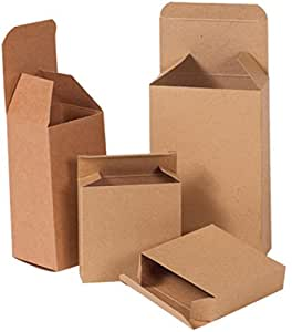 "Bauxko Kraft 反转 Tuck 折叠式纸箱,所有 (158) 3 5/8"" x 1"" x 3 5/8"", 25-Pack"