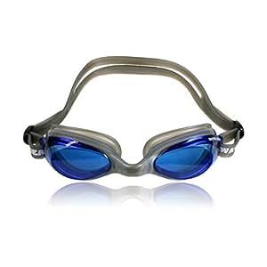 Water Gear Razor 防雾护目镜 - 镜片:蓝色;密封:银色