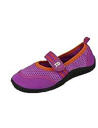 Sunville 新款 Starbay 品牌儿童一脚蹬运动水鞋/水蓝色袜