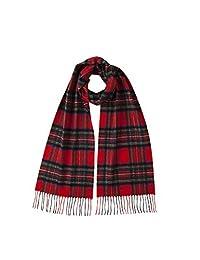 Johnstons of Elgin 经典苏格兰格纹羊绒围巾WA16