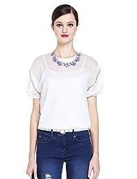 Five Plus 女式 潮薄款宽松圆领短袖针织套头衫 2151036450