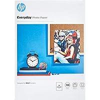HP Everyday  Fotopaper Glossy ( 210 x 297毫米 ) – 200克 / 平方米 100 Seiten -A4- gl?nzend 白色
