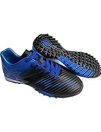 Vizari 中性款 Liga TF 尺码足球鞋,蓝色/黑色,12.5 常规美国小童