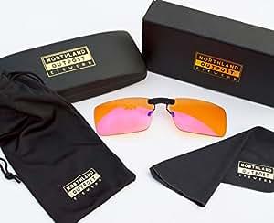 蓝光屏屏蔽电脑眼镜 - 适合卡扣 ONS 至* Better Wear 夜视镜 - 防眩光适用于雪花、*、眼部应变缓解 - 男士、女士、玩家 - 游戏套装