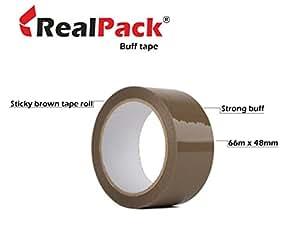 REALPACK® - 1 卷 48MM x 66M 缓冲包裹胶带提供牢固的*和粘性的密封
