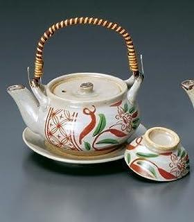 红绘唐草茶泡壶 茶壶 陶器 美浓烧