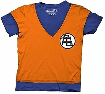 七龙珠 Z 龙珠 Z Goku 服装角色扮演衬衫 橙色 X-Large