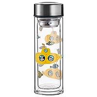 LOCK&LOCK 乐扣乐扣 海洋系列双层耐热玻璃水瓶 黄色 LLG627BLU(亚马逊自营商品, 由供应商配送)