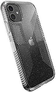 Speck Products Presidio 完美透明帶抓握保護殼,兼容 iPhone 11136496-5636  Clear with Gold Glitter/Clear