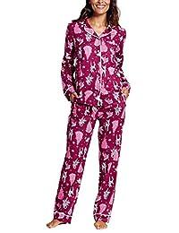 女式 * 纯棉假日驯鹿 2 件套睡衣套装