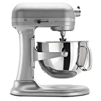 KitchenAid KP26M1XNP 6 Qt. Professional 600 Series Bowl-Lift Stand Mixer - Nickel Pearl 需配变压器