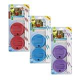 Ball 1440015010 吸管盖(每包包括一个4件套),适用于广口梅森罐(不包括罐) Red, Blue, Purple Wide Mouth (3 Pack) 23570-23571-23572