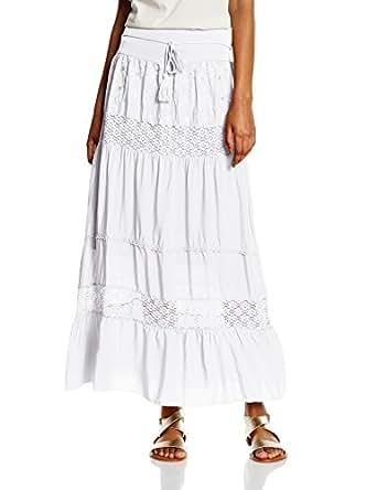 Hailys Women's LG V ST Kellie Skirt White - Weiß (white 10001) 8
