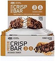 Optimum Nutrition 欧普特蒙 蛋白质脆棒 带乳清蛋白分离物 低碳水化合物高蛋白零食 不含糖 花生酱 10 x 65 克