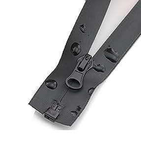 CHRIS .宽15cm 件2.22cm 隐形防水防水拉链口袋拉链尼龙线圈拉链 Tailor 下水道工艺适用于狩猎服装 / 夹克 / 羽绒服黑色