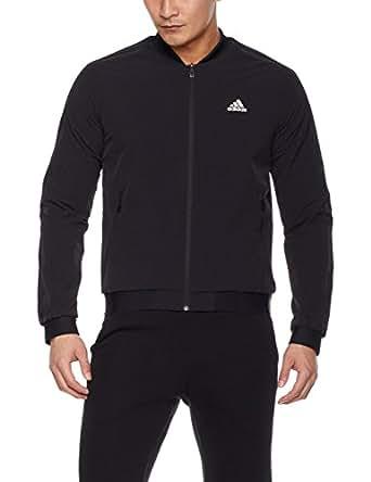 adidas 阿迪达斯 男式 运动型格 梭织夹克 CZ5916 黑/白 185/108A