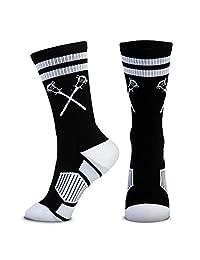 Lacrosse 鳄鱼编织中筒袜 | 复古交叉杆 | 多色