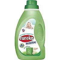 Eureka 敏感非生物液体洗涤剂,含橄榄油皂和*洋甘菊,1 升,2 件装