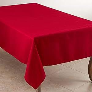 "SARO LIFESTYLE 休闲设计日常桌布 红色 90"" x 120"" 321.R90120B"