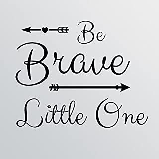 "28""x24"" Be Brave Little One Wall Decal Sticker Art Mural Home Decor Quote Cute Nursery Baby Boy Girl Arrow Heart"