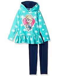 Disney Little Girls'2 Piece Elsa Fleece Set
