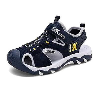 FOMCORT 包头凉鞋童鞋 男童鞋 儿童拖鞋 宝宝鞋 休闲童鞋 儿童鞋 学生鞋 软底鞋(深蓝,32)