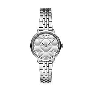 Emporio Armani 安普里奥·阿玛尼女式模拟石英手表不锈钢表带 AR11213