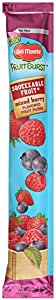 Del Monte Mixed Berry Fruit Tubes, 2.2-Ounce (Pack of 100)