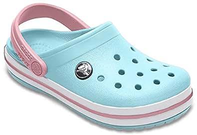 Crocs Kids' Crocband Clog Ice Blue/White
