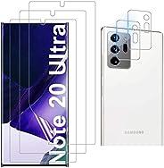 Luibor 三星 Galaxy Note 20 Ultra 屏幕保护膜 [3 件装] + 三星 Galaxy Note 20 Ultra 相机镜头保护膜,三星 Galaxy Note 20 Ultra 屏幕保护膜,防刮